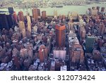 aerial image of new york city | Shutterstock . vector #312073424