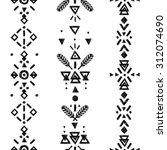 geometric background  tribal... | Shutterstock . vector #312074690