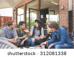 group of young multi ethnic... | Shutterstock . vector #312081338