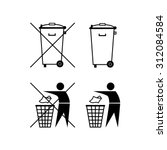 Trash Can. Waste Recycling. Do...