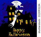 happy halloween   abstract... | Shutterstock .eps vector #312093134