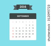 september calendar 2016. vector ... | Shutterstock .eps vector #312095723