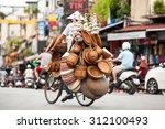 hanoi  vietnam   street vendors ...   Shutterstock . vector #312100493