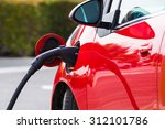 an electric vehicle  car... | Shutterstock . vector #312101786