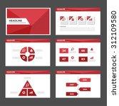 red polygon multipurpose... | Shutterstock .eps vector #312109580