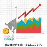 business stock exchange  vector ... | Shutterstock .eps vector #312117140