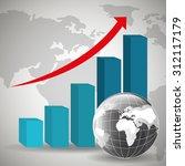 global economy money design ... | Shutterstock .eps vector #312117179