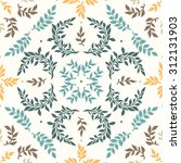 seamless floral pattern with... | Shutterstock .eps vector #312131903