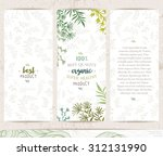 botanical banners collection.... | Shutterstock .eps vector #312131990