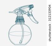spray trigger  atomizer ...   Shutterstock .eps vector #312133904