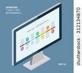 isometric timeline infographic...   Shutterstock .eps vector #312134870