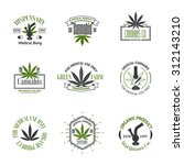 set of medical marijuana logos. ... | Shutterstock . vector #312143210