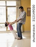 father and daughter playing | Shutterstock . vector #312149030