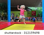 Little Child Jumping At...