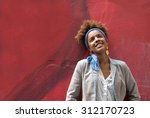 head shot of young afro... | Shutterstock . vector #312170723