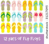 12 Pairs Of Brightly Colored...