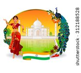 travel to india  indian woman... | Shutterstock .eps vector #312188528