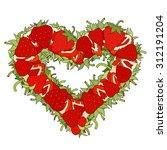 heart form made of fresh... | Shutterstock . vector #312191204