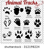 animals tracks   vector set  ... | Shutterstock .eps vector #312198224