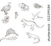 dinosaurs. vector illustration | Shutterstock .eps vector #312199184
