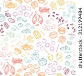 vector seamless nuts pattern | Shutterstock .eps vector #312199484