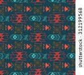 native american seamless... | Shutterstock .eps vector #312199568