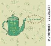 tea time design template. tea... | Shutterstock .eps vector #312201884