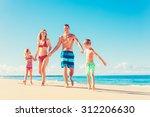 family vacation. happy family... | Shutterstock . vector #312206630