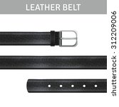 Black Leather Belt With Buckle...