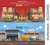 warehouse horizontal banner set ... | Shutterstock .eps vector #312210443