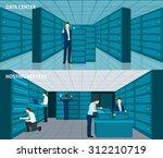 data center horizontal banner... | Shutterstock .eps vector #312210719