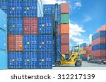 Forklift Handling Container Box ...