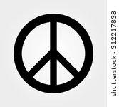 black peace symbol  | Shutterstock .eps vector #312217838