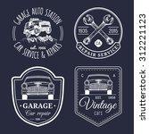 vector set of vintage sketched...   Shutterstock .eps vector #312221123