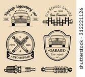 vector set of vintage sketched...   Shutterstock .eps vector #312221126