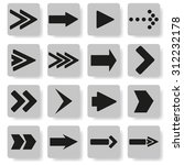 set of arrows on a gray...   Shutterstock .eps vector #312232178