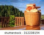 Sunny Landscape  Basket With...