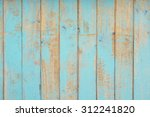 Rustic Wood Painted Blue Colou...