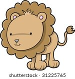 cute safari lion vector... | Shutterstock .eps vector #31225765