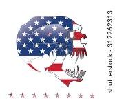 skull and  united nation flag.... | Shutterstock .eps vector #312262313
