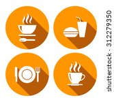 set of vector icons with food | Shutterstock .eps vector #312279350