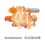 calendar collection   october... | Shutterstock .eps vector #312281438