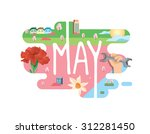calendar collection   may flat... | Shutterstock .eps vector #312281450