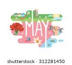 calendar collection   may flat... | Shutterstock .eps vector #312281450