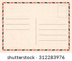 vector travel postcard with... | Shutterstock .eps vector #312283976