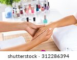 woman in salon receiving... | Shutterstock . vector #312286394