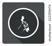 philippines map dark sign icon. ...
