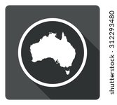 australia map dark sign icon....