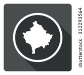 kosovo map dark sign icon....