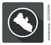 liberia map dark sign icon....